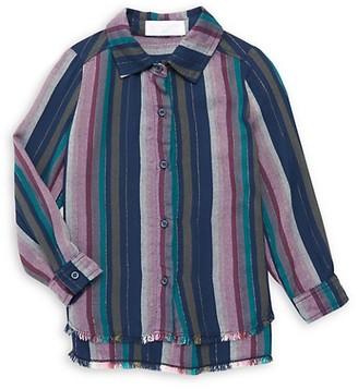 Bella Dahl Little Girl's Girl's Frayed-Hem Shirt