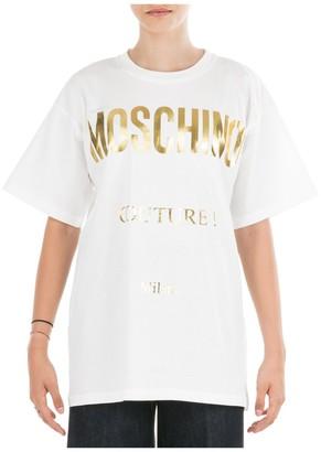 Moschino Logo Print Crewneck T-Shirt