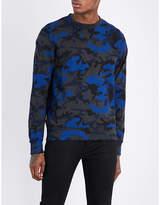 Sandro Camouflage cotton-jersey sweatshirt