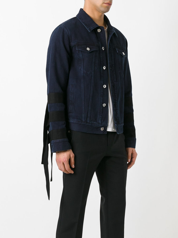 Givenchy sleeve-fringed denim jacket