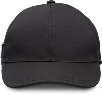Prada triangle logo baseball cap