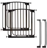 Dream Baby Dreambaby® Chelsea Auto Close Stay Open Security Gate 2 Gates Value Pack in Black