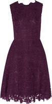 Oscar de la Renta Wool-blend lace dress