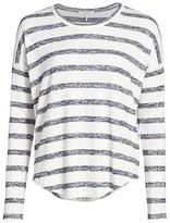 Rag & Bone The Knit Striped Hudson Long-Sleeve Top