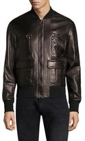 Neil Barrett Soft Vintage Lambskin Bomber Jacket