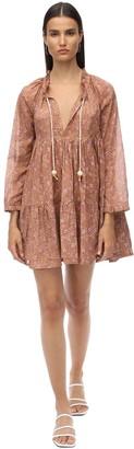 Yvonne S Volang Double Cotton Voile Mini Dress