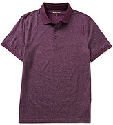 Michael Kors Jacquard Yarn-Dye Short-Sleeve Polo Shirt