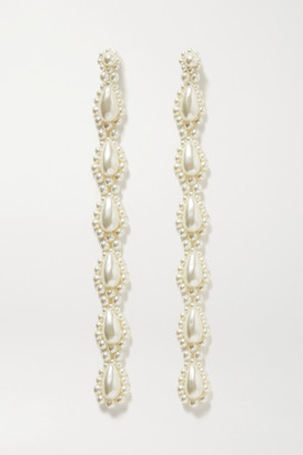 Simone Rocha Gold-tone Faux Pearl Earrings - one size