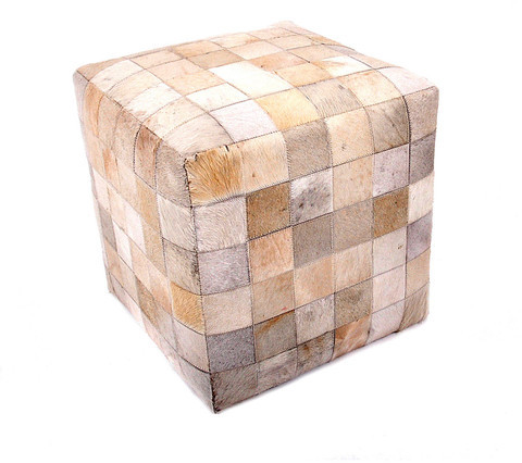 Found Object Tuscan Patchwork Cube Natural
