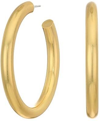 Madewell Chunky Oversized Hoop Earrings (Vintage Gold 1) Earring