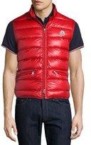 Moncler Gui Nylon Puffer Vest, Red