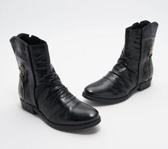 Miz Mooz Leather Ruched Mid Boots - Dawson