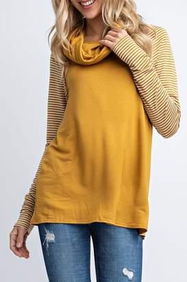 Ami 12pm By Mon Mustard Stripe Sweater