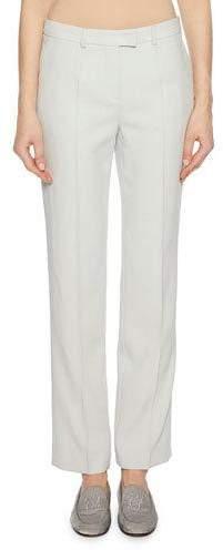 Giorgio Armani Zip-Front Straight-Leg Virgin Wool Pants