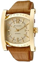 Bulgari Men's Assioma Mechanical/Automatic Light Champagne Dial Brown Crocodile