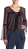 BCBGeneration Bow Tie Bell Sleeve Blouse