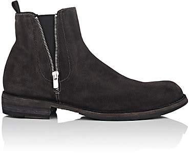 Officine Creative Men's Double-Zip Suede Chelsea Boots - Gray