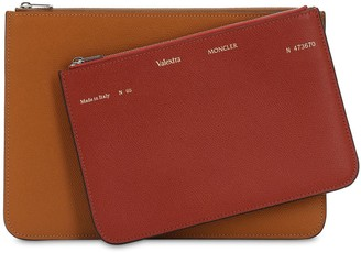 MONCLER GENIUS Moncler X Valextra Double Leather Pouch