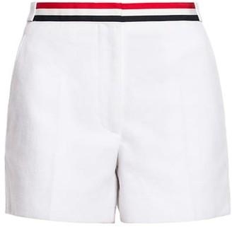 Thom Browne Grosgrain-Trimmed Cotton Shorts