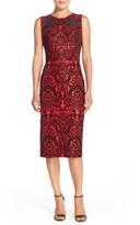 ECI Women's Flecked Scuba Sheath Dress
