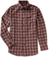 Roundtree & Yorke Casuals Long-Sleeve Medium Plaid Flannel Sportshirt