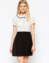 Asos Broderie Shirt Dress