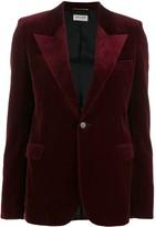 Saint Laurent peaked lapel velvet blazer