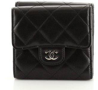 Chanel Double Sided Flap Wallet Quilted Lambskin Compact