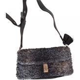 Prada Grey Fur Handbag