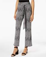 NY Collection Petite Tie-Belt Wide-Leg Pants