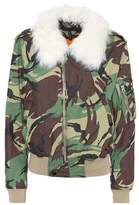 Rag & Bone Fur-trimmed camouflage jacket