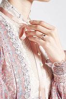 Delfina Delettrez 18kt White Gold Love Ring with Aquamarine, Rhodolite and and White diamonds