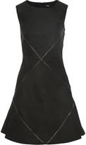 Raoul Marcelle faux leather-paneled woven mini dress