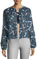 adidas by Stella McCartney Run Adizero Zip-Front Printed Performance Jacket