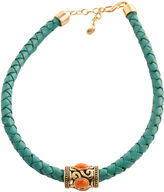 Barse FINE JEWELRY Art Smith by Coral & Aqua Leather Necklace
