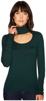 1 STATE 1.STATE - Long Sleeve Scoop Front Turtleneck Sweater Women's Sweater