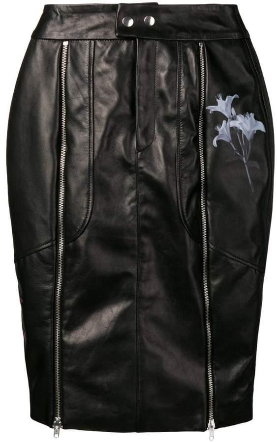 decb8670ee Leather Biker Skirt - ShopStyle UK