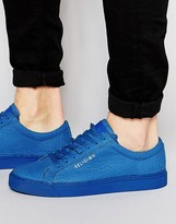 Religion Leather Croc Trainers