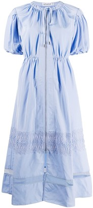 Self-Portrait Ruched Style Contrast Panel Dress