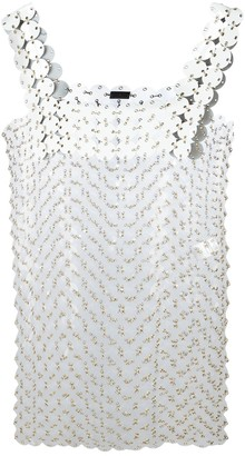 Paco Rabanne Embellished Mini Dress
