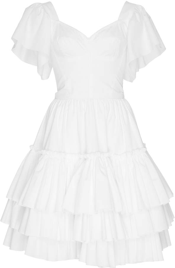 Dolce & Gabbana Bustier Cotton Poplin Mini Dress