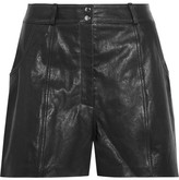 Maje Leather Shorts - Black