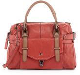 Kooba Kendal Leather Zip Satchel Bag, Rose