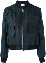 Carven distressed bomber jacket - women - Cotton/Acrylic/Polyester/Viscose - 36