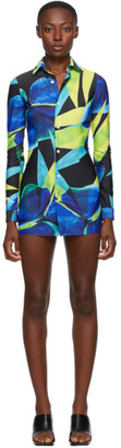 Louisa Ballou SSENSE Exclusive Blue Lycra Shirt Dress