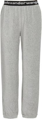 Alexander Wang Elastic-Logo Stretch-Jersey Pants