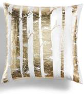 """Holiday Lane Gold Foil Printed Tree 20"""" Square Decorative Pillow, Created for Macy's"""
