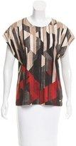 Salvatore Ferragamo Sleeveless Abstract Print Top