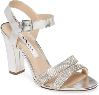 Nina Sybil Crystal Embellished Sandal