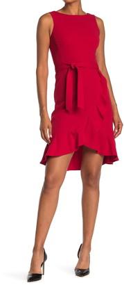 Calvin Klein Sleeveless Ruffled Tie Waist Dress